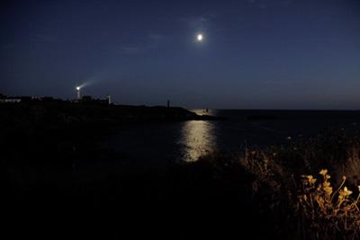 Pointe Saint Mathieu la nuit